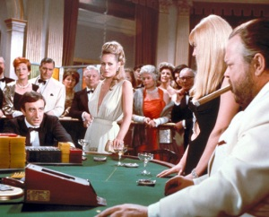 In real life, Peter Sellers hated Orson Welles' magic tricks for the casino scene