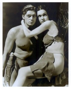 """Me Jane"" Irish-born Maureen O'Sullivan was already popular as a  Hollywood actress for her Tarzan series. She was also known later as Mia Farrow's mom."