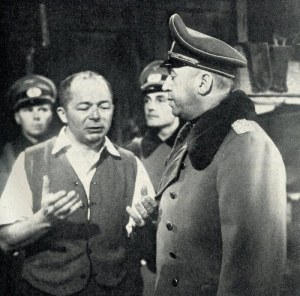 Billy Wilder giving direction to Otto Preminger