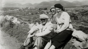 John Ford hanging out with Maureen O'Hara