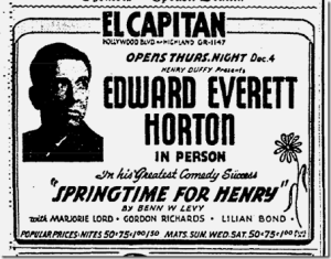 From stage to radio to screen, Edward Everett Horton was a multi medium master
