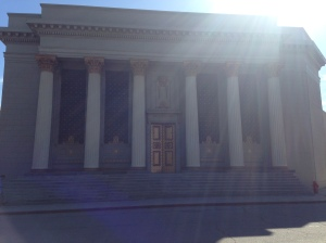 Can you picture 1966 Batman & Robin sprinting up these steps to see Commissioner Gordon?