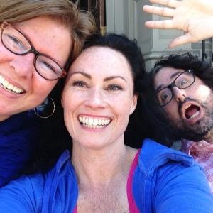 Aurora (left), Kellee (center), and Matt (silliness on the right)
