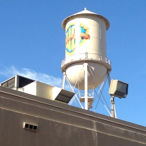 That infamous Warner Brothers water tower...