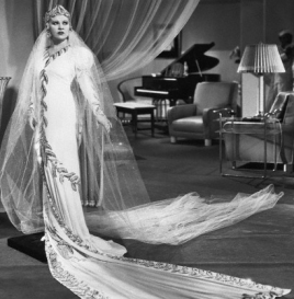 a grand and glamorous wedding dress awaiting Grant!