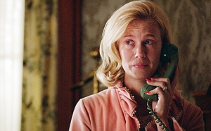 Betty gets honest and faces fears with Don- January Jones as Betty Draper
