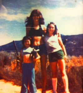 My little sister, my mom, and me circa summer of 1976