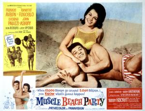 "MUSCLE BEACH PARTY- Avalon's character was usually called ""Frankie"" and Funicello's character was usually ""Delores"" or ""Dee Dee"""