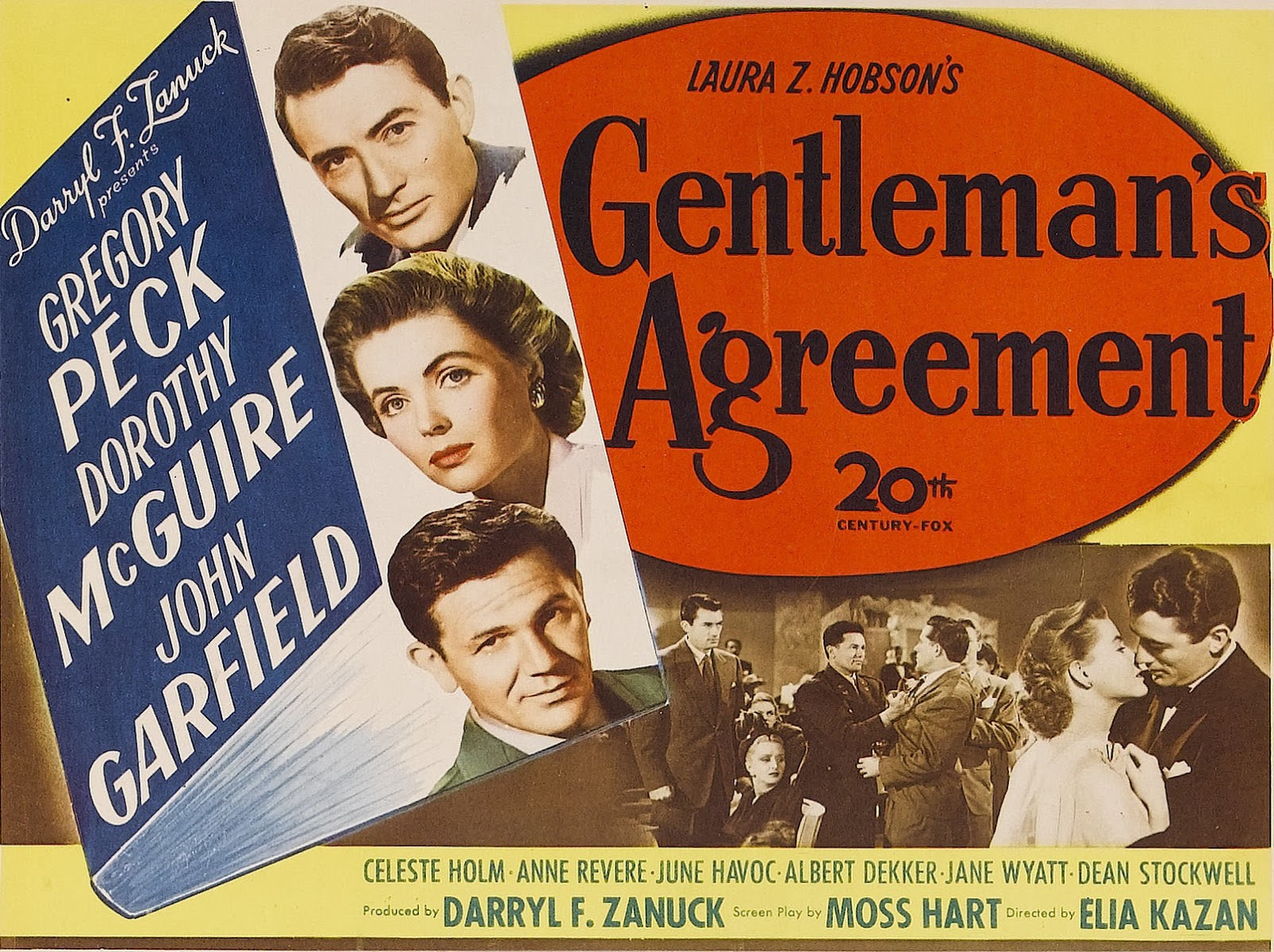 anti semitism in gentlemans agreement film To be sure, producing a film that dealt with anti-semitism as explicitly as  gentlemans agreement did was a feat for hollywood in 1947, the year that the  first two.