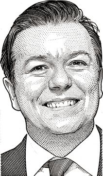 Randy Glass – Wall Street Journal Hedcut of Ricky…